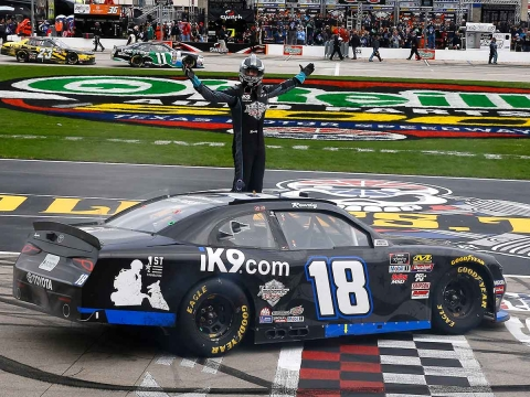 Kyle Busch Wins at Texas