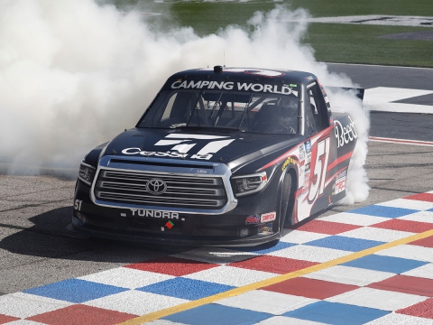 Kyle Busch Dominates Atlanta To Score 60th Career Truck Victory